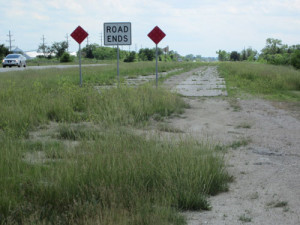 Abandoned section of Rt 66